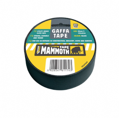Everbuild 2VGAFFBK45 Gaffa Tape Black 50mm x 45m